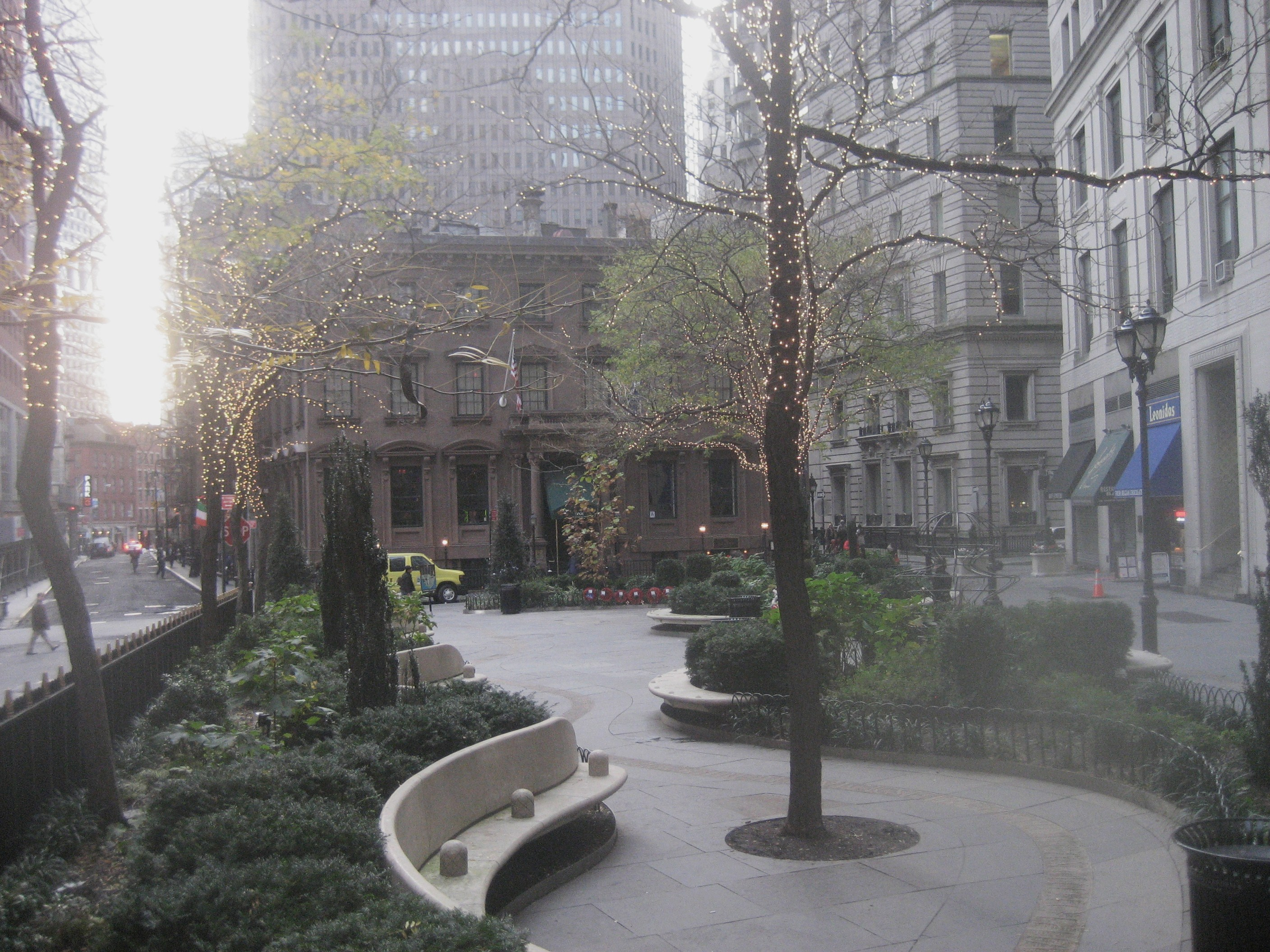 Looking north into city hall park from park row we see for Alfanoose middle eastern cuisine